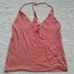 Silence Noise Tank Top Surplice Orange Pink S